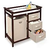 Wickelaufsatz- Tragbare Wickeltische aus Holz mit Lagerung, Kindergarderoben für kleine Räume Schulen 86,5 × 48,5 × 87 cm
