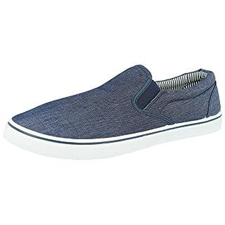 Leinwand-Slipper für Herren, Sommerschuhe, Blau - denim-blau - Größe: 42.5 / 9 UK