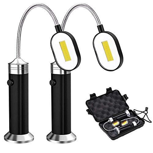 FeelGlad LED Grill Licht ,[2 Stück] BBQ Grilllampe 360°Verstellbare Lampe mit Magnet, Outdoor Grill Lichter Grillen Zubehör schwarz