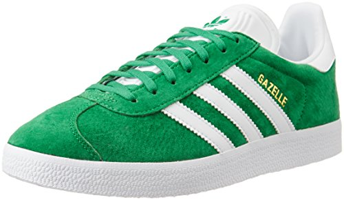 adidas Gazelle, Sneakers Basses Mixte Adulte, Vert - (Green/White/Gold Met.),EU 46 2/3