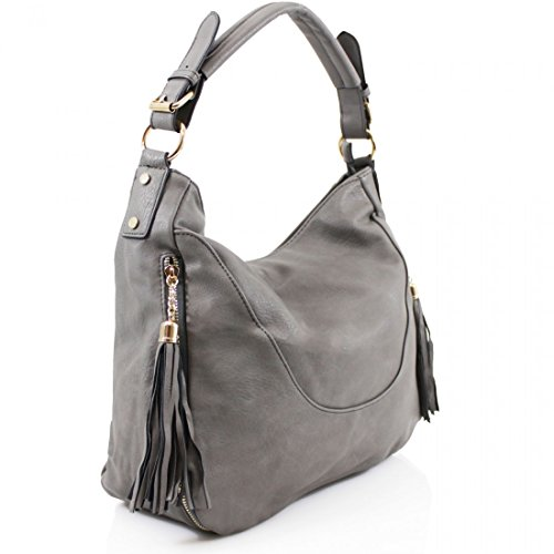 Elegant Fashions, Borsa a spalla donna Brown