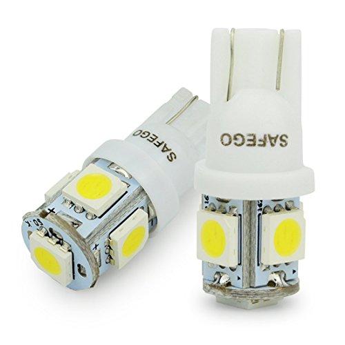 Safego 2 x T10 LED Auto LAMPADINE T10 W5W bianche