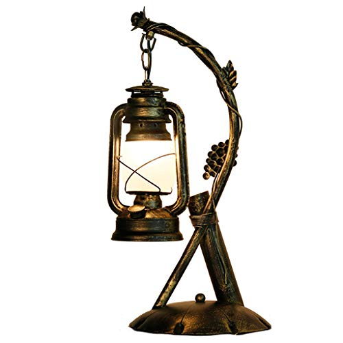 Lixin lampada da tavolo in ferro battuto lampada da tavolo creativa per dormitorio (colore : bronzo, dimensioni : 47 * 29cm)