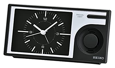 Seiko Despertador analógico Unisex de plástico Negro QHP004K