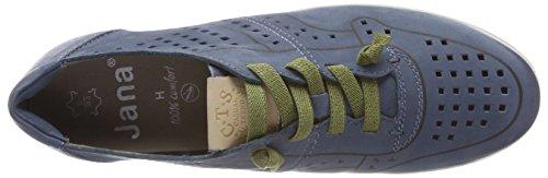 Jana 23600, Scarpe da Ginnastica Basse Donna Blu (Jeans)