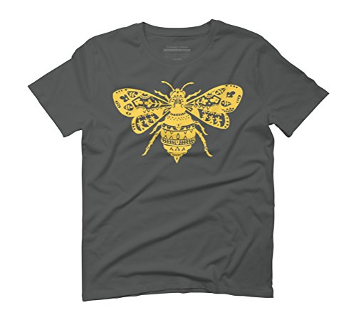 Fantastic Bee in Yellow Men's Graphic T-Shirt - Design By Humans Anthracite