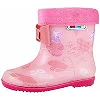 FeiliandaJJ Regenschuhe Wasserdichte Regenstiefel Kind Candy Gummi Warme Kinder Regen Schuhe