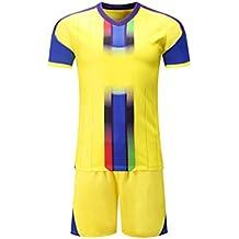 Yefree Jerseys de Fútbol de los Hombres Kit de Deportes Equipo Jersey de Fútbol Establece Uniformes
