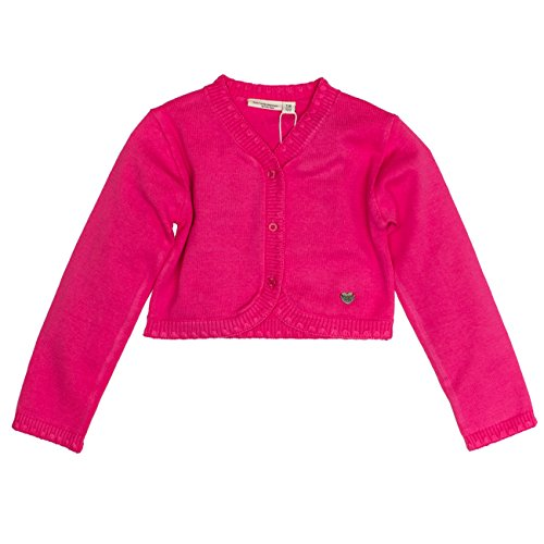 SALT AND PEPPER Mädchen Jacke Jacket Dresses Strick Bolero, Rosa (Raspberry 871), 128 (Herstellergröße: 128/134)