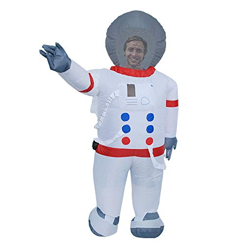 BaronHong Piggyback Aufblasbare Kleidung für Erwachsene Halloween-Kostüm Karnevalsparty (Astronaut, M)