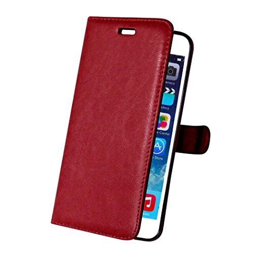 iPhone 6 Plus / iPhone 6s Plus Custodia, TOTOOSE per iPhone 6 Plus / iPhone 6s Plus PU pelle Portafoglio Case con Flip Stand Funzione Cornice per foto e slot per schede TPU Silicone Morb
