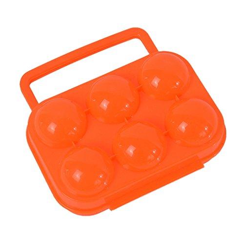 RainBabe tragbare sowie verschließbare Eierbox aus Kunststoff für bis zu 6 Eier, ideal für Picknicks