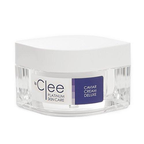 LaClee Platinum Skin Care - Kaviar Cream Deluxe - La Clee Kaviarcreme für Gesicht und Dekolleté | Inhalt: 50 ml | mit 2% Kaviarextrakt | Anti-Falten Pflege, Gesichtscreme |