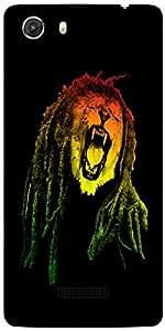 Snoogg Bob Lion Designer Protective Back Case Cover For MICROMAX UNITE 3