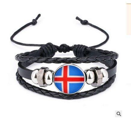 Naisidier Armband Armreif 2018 Weltmeisterschaft Fanartikel Island Style Flagge Gewebt Armbänder