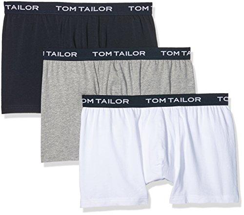 TOM TAILOR Herren Retroshorts, 3er Pack Blau (navy-melange-white 7006)