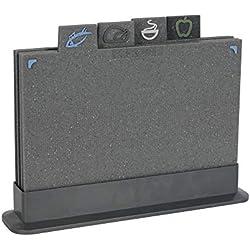 ProCook Designpro - Set de Planches à découper antidérapantes avec onglets 4 pièces Effet Granite