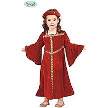 Disfraz de chica medieval granate (10-12 años)