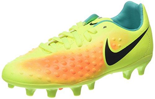 Nike Magista Opus Ii Fg, Scarpe da Calcio Unisex - Bambini, Giallo (Volt/Black-Total Orange-Clear Jade), 37.5 EU