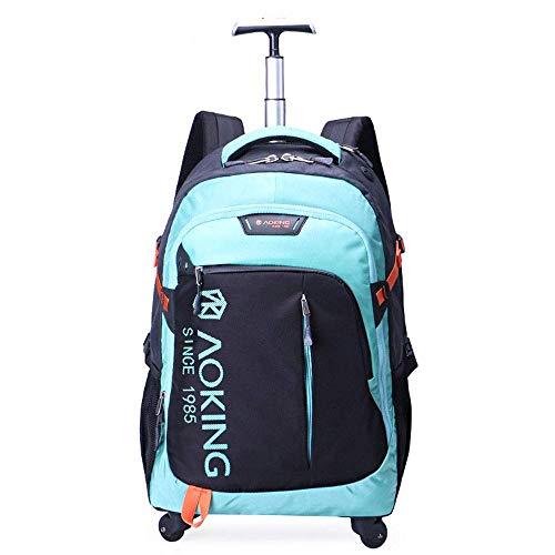 JBAG Trolley-Rucksack, wasserdichte Business-Reisetasche, Laptop-Rucksack auf Rädern mit großer Kapazität, Handgepäckkoffer, Gepäck auf Rädern,Blue,20inch (Laptop-tasche Wheeled Frauen Für)