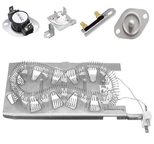 OxoxO Replace 279973 Fuse & Thermostat Kit 3387747 Dryer Heating Element  8577274 Thermistor 3392519 Thermal Fuse For Whirlpool Top Quality