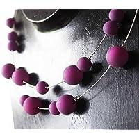 Polariskette lila oder in Wunschfarbe Halskette Kette Statementkette