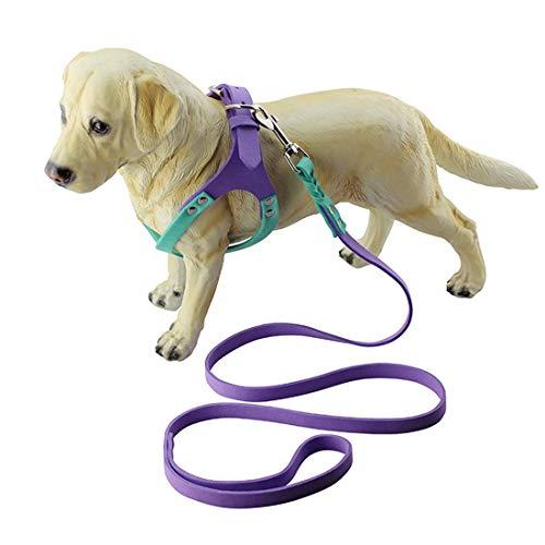 KYS Haustierleine Größen: L, Mikrofaser-Brille-Art Breathable Dog Chest Strap (Farbe : Violett)
