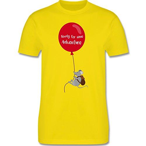 Sonstige Tiere - Ready for some Adventure - Herren Premium T-Shirt Lemon Gelb