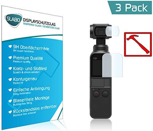 Slabo 3 x Premium Pellicola Protettiva in Vetro Temperato per DJI Osmo Pocket Schermo Tempered Glass Graffi Fino a 9H