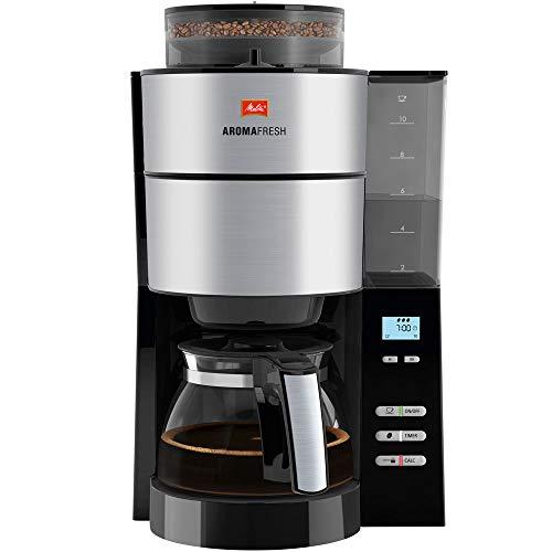 Melitta 1021-01 AromaFresh Filterkaffeemaschine Rostfreier Stahl schwarz - Kaffee Karaffe Tasse 5