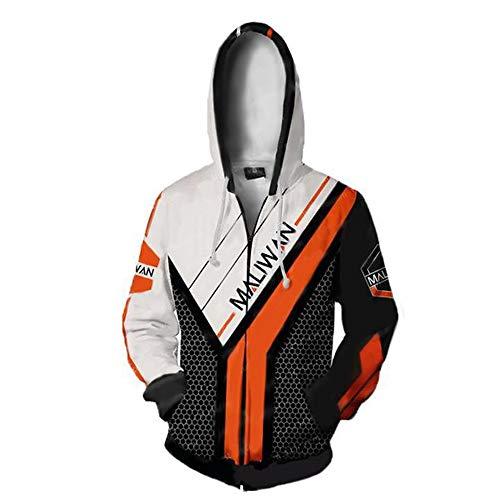 rinted Jacket Costume Zipper Pullover Breathable Hoodies Patterned Sweatshirts Zipper Borderlands ()