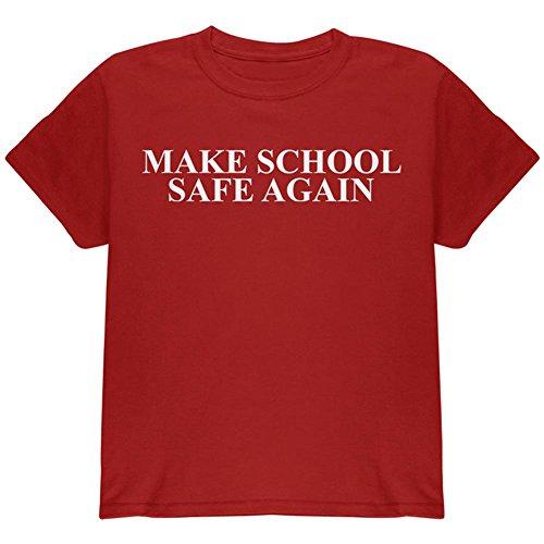 Machen Schule Sicher Wieder Jugend T-Shirt Cardinal Red YSM (T-shirt Red Kinder-cardinal)