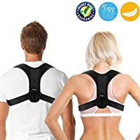 FUYERLI Posture Corrector for Men and Women with Adjustable Clavicle Brace