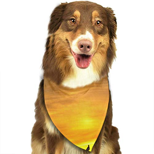 Rghkjlp Afterglow Pet Bandana Washable Reversible Triangle Bibs Scarf - Kerchief for Small/Medium/Large Dogs & Cats