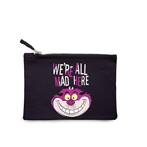 Disney - Alice im Wunderland - Damen Make Up Kosmetiktasche - Grinsekatze - We are all Mad here
