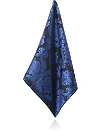 Pochette Motif Jacquard Victorien Bleu