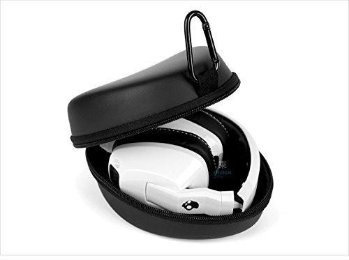hobaos® Schwarz Eva, der Hard Schutzhülle für Kopfhörer Headset (Sony, Philips, Pioneer, Senheisser, Marshall, Shure, Beats, Bose, etc.) Kopfhörer Headset Fall