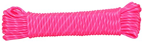 Rope King Nylon Paracord, rosa/weiß, 1/8