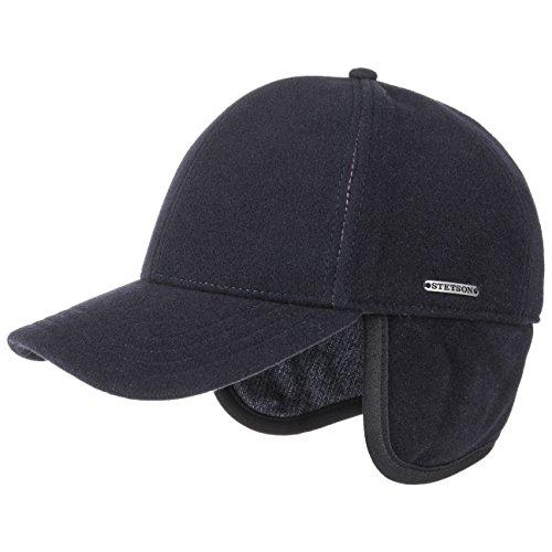 Stetson vaby berretto con paraorecchie cappello invernale cappellino in lana m (56-57 cm) - blu scuro
