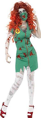 Smiffys Damen Zombie-OP Schwester Kostüm, Kleid und Maske, Größe: L, 24373