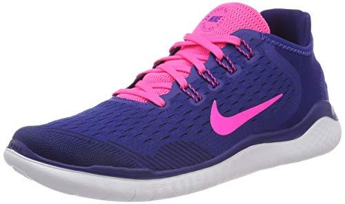 Nike Damen WMNS Free Rn 2018 Laufschuhe, blau/pink, 36.5 EU