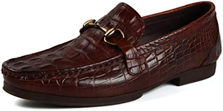 Zapatos Clásicos de Piel para Hombre Zapatos de Cuero para Hombres Estilo Británico Ocio Respirable Diario (Color...