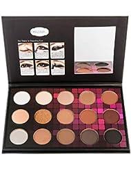 Luomike Palette de Fard à Paupière Waterproof Durable Matte Shimmer Mat Makeup Palette Shimmer ombre à paupières 12 Couleurs Brosse Set (A)