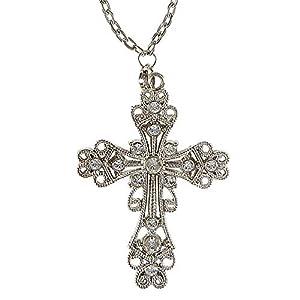 WIDMANN?Collar cruz gótico Womens, Plata, talla única, vd-wdm05715