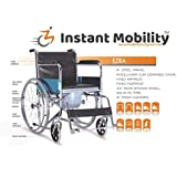 Instant Mobility Ezra Invalid Commode Wheelchair