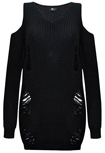 Baleza - Robe - Pull - Femme Noir