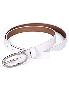 Cinturón Decorativo De Moda/Simple Joker Correa Del Ocio-blanco 115cm(45inch)
