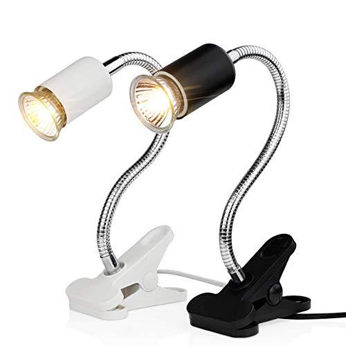 ZDJR Accesorio de lámpara con Abrazadera para Reptiles y Anfibios, sin Bombilla incluida, iluminación de hábitat Ajustable Mejorada y Soporte de Soporte,Black