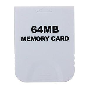 GOZAR 64 Mb Speicherkarte Weiß Für Nintendo Wii & Gamecube