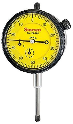 Starrett 25–781j-8Cadran Indicateur, gamme: 25,0mm, cadran lecture: 0–50